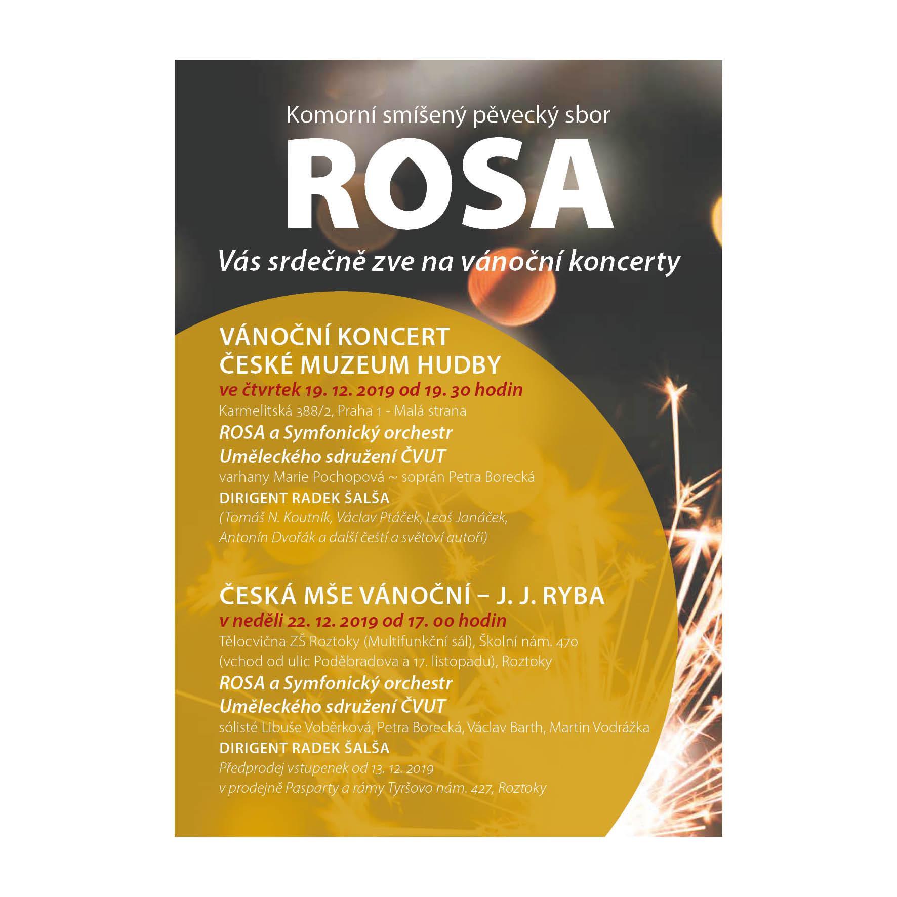 Vánoční koncert ROSA