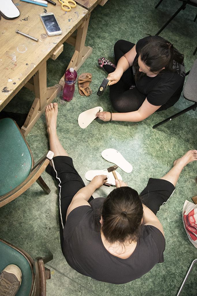 Workshop barefoot